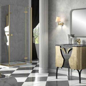 Bộ sưu tập phòng tắm Cipria 05 Leaf Gold Black