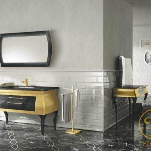 Bộ sưu tập phòng tắm Diva 06 Leaf Gold - Black