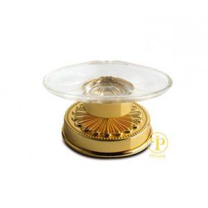 Phụ kiện TBVS 3SC Kệ để xà phòng mạ vàng