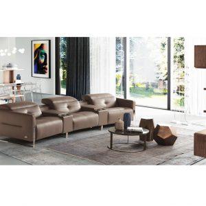 Sofa da nhập khẩu Ý MOMA phòng khách hiện đại