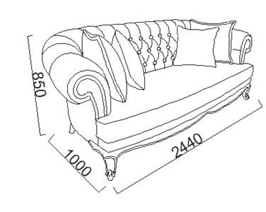 Kích thước Bộ sofa Lisbon Hồng nội thất phòng khách hiện đại cao cấp