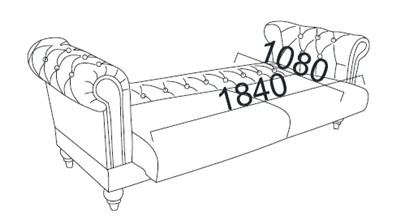 Kích thước Giường sofa 2 chỗ ngối
