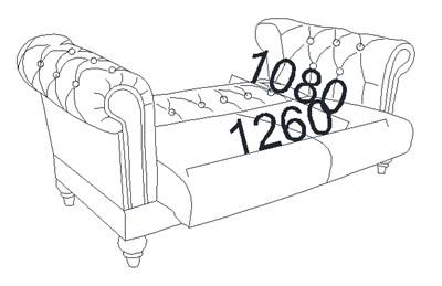 Kích thước Giường sofa chỗ ngồi