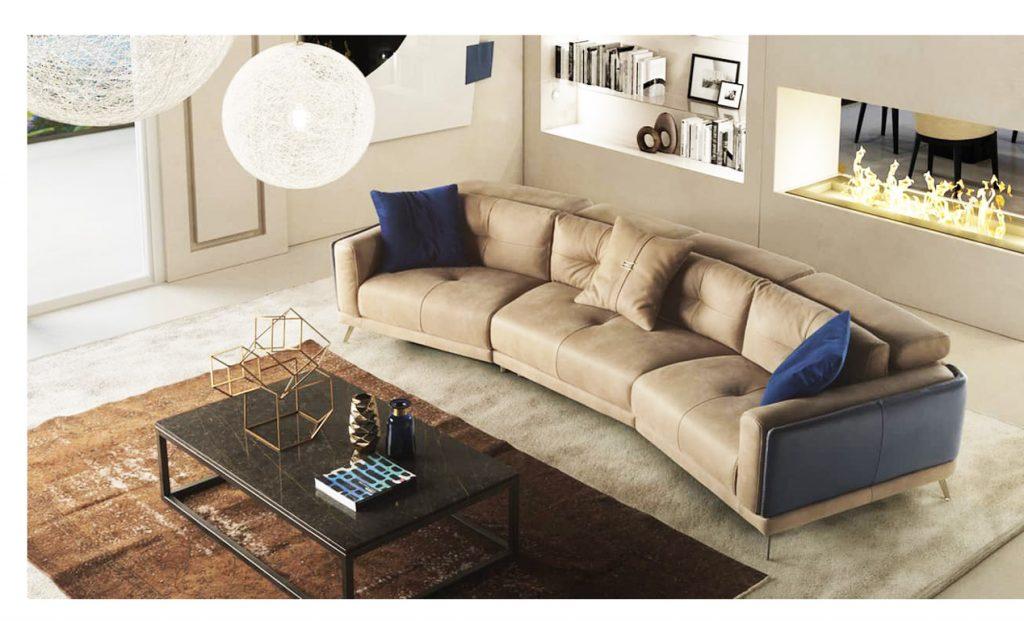 Sofa nhập khẩu Ý MIA hướng tới không gian sống với nội thất hiện đại sang trọng tiện nghi mang lại sự thoải mái nhất cho người sử dụng.