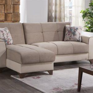 Bộ Sofa góc thông minh Tina V Kose Takimi - Kem nhập khẩu