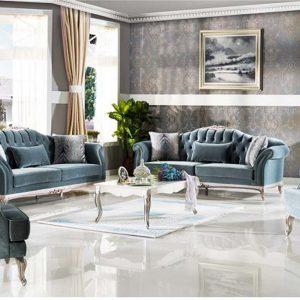 Bộ sofa Golden màu xanh nội thất phòng khách hiện đại cao cấp