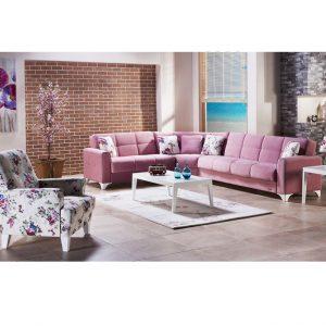 Sofa góc thông minh TINA V KOSE TAKIMI – HỒNG nhập khẩu