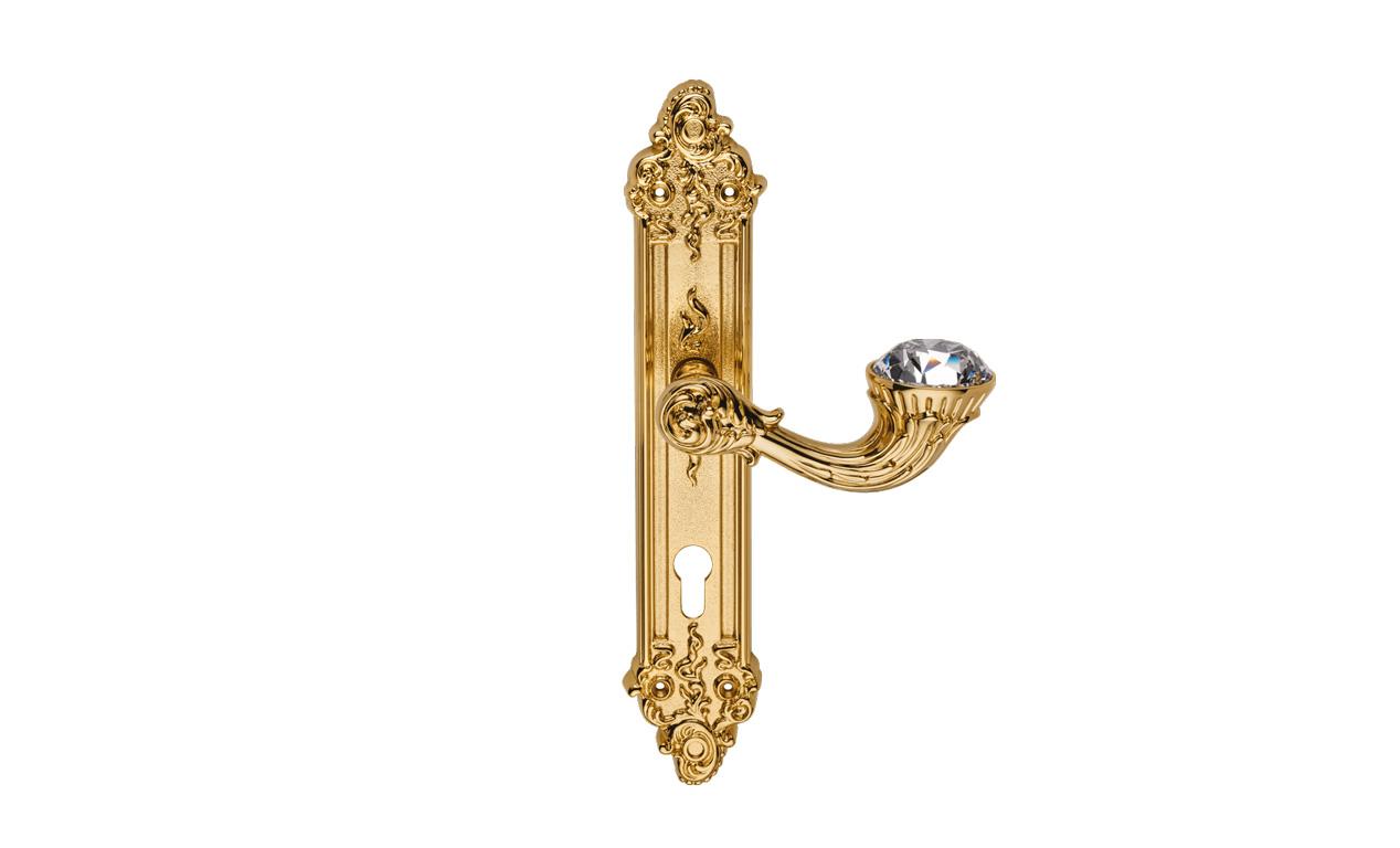 Bộ Sưu tập Brilliant Diamond khóa cửa nhập khẩu Italia mạ vàng 24k