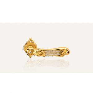 Bộ Sưu tập tay nắm khóa cửa Tiffany Mesh màu vàng Ý