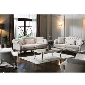 Bộ sofa Golden màu kem nội thất phòng khách hiện đại cao cấp