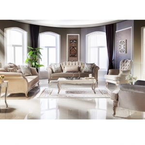 Bộ sofa Golden màu nâu nội thất phòng khách hiện đại cao cấp