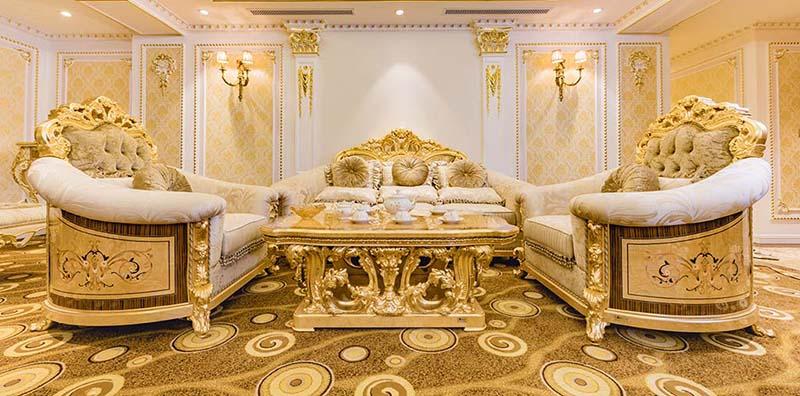 Bộ nội thất cổ điển Versailles phòng tổng thống tại Khách Sạn Hoàng Nhâm Lai Châu