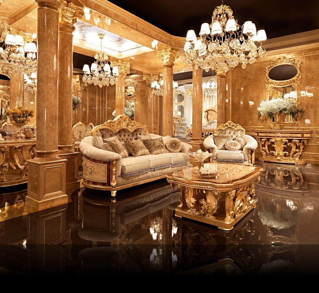 Nội thất phòng khách Versailles