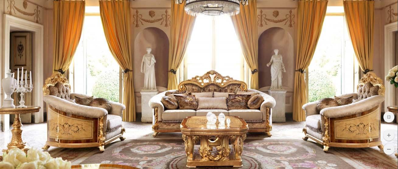 Nội thất phòng khách cổ điển Versailles