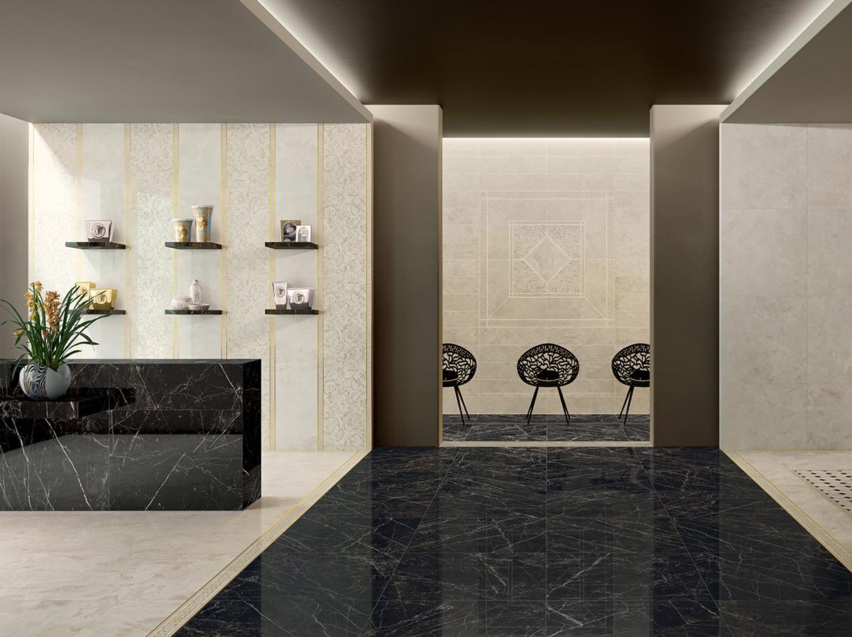 Emote Crema Marfil – Gạch lát nhập khẩu Ý hãng Versace