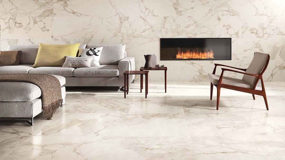 RM 60 Calacatta Lux– Gạch vân đá lát nền nhập khẩu Ý hãng Fap