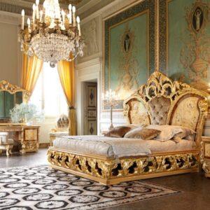 9 mẫu giường ngủ gỗ tự nhiên nhập khẩu Italia đẳng cấp Hoàng Gia