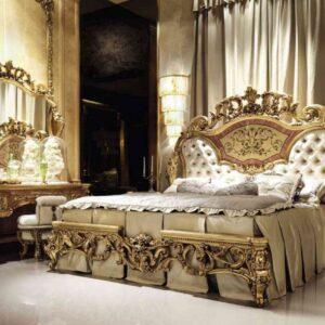 Nội thất phòng ngủ phong cách cổ điển châu Âu sang trọng