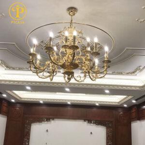Đèn chùm Cordon nhập khẩu Tây Ban Nha – lắp đặt tại Thanh Trì Hà Nội