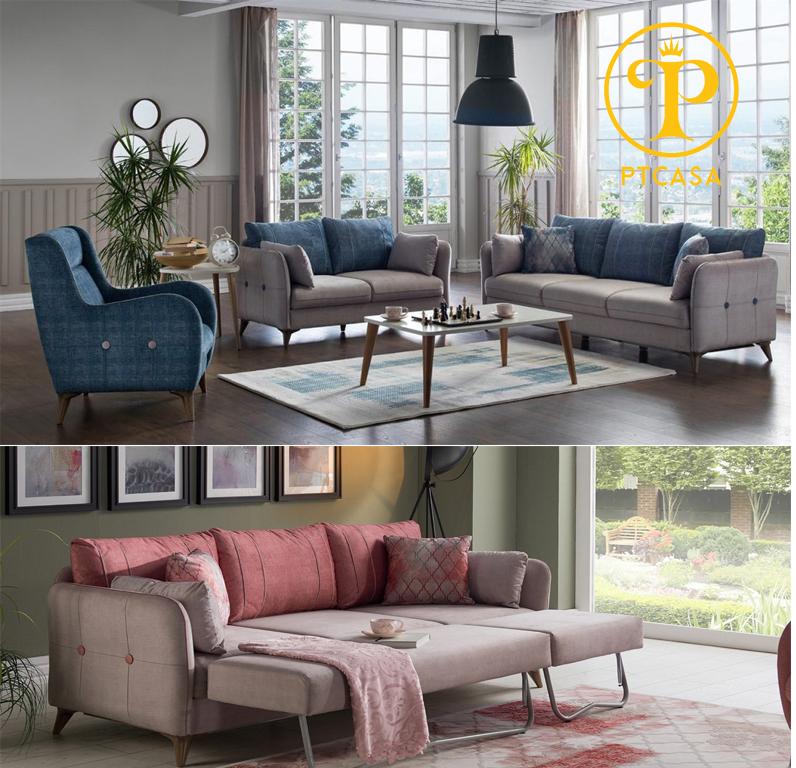 6 mẫu sofa nỉ cao cấp nhập khẩu Châu Âu thiết kế mới nhất 2021