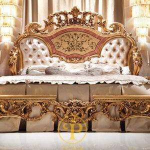 Đẳng Cấp Giường ngủ cao cấp nhập khẩu Châu Âu cổ điển Hoàng Gia Quyền Quý