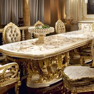 10 mẫu bàn ăn cổ điển châu âu cao cấp đẹp cổ kính nhất