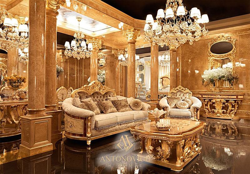 10 mẫu sofa cổ điển châu âu đẹp cổ kính, uy nghi đẳng cấp