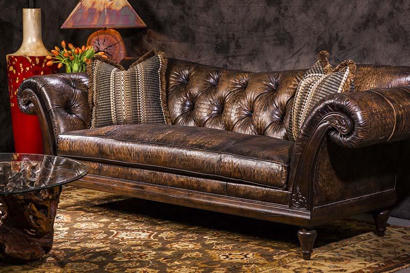 Sofa da cá sấu - vẻ đẹp nổi bật cho không gian